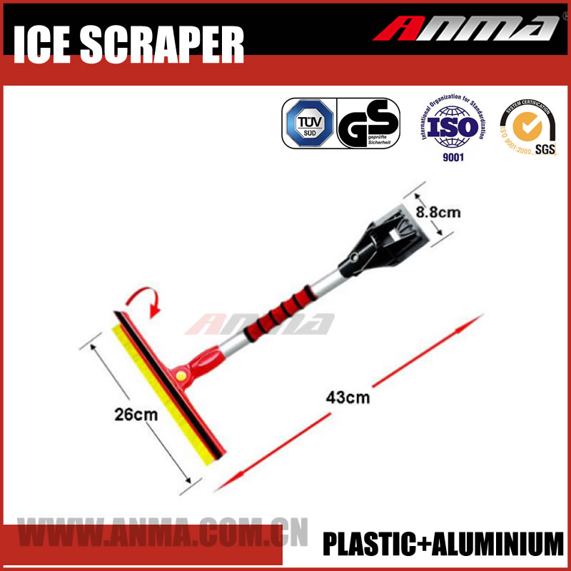 Ice scraper machine snow brush with ice scrape