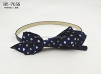 Trendy fashion thin cool kids PU belt with bowknot no buckle