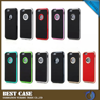 3 in 1 hybrid cell phone bags back covers for iPhone 6S with 11 colors