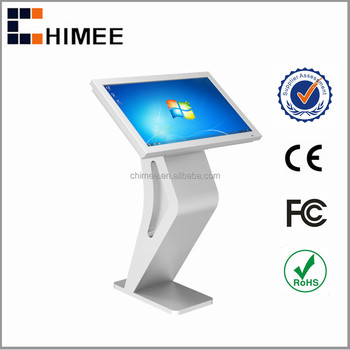 "HQ32CSK-5 32"" Free standing touch screen monitors computer kiosk for shopping center kiosk"