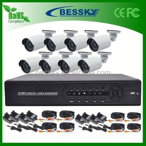 Alibaba China Supplier security cameras for import outdoor camera 8ch dvr kits night vision video camera