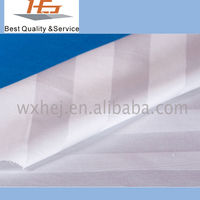 100% Cotton Fabric White Stripe For Home Textile
