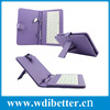 colours USB Keyboard Leather Case For 7 inch Android Tablet pc Folding Leather Protective Case