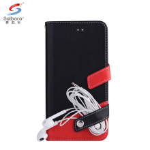 Joint litchi stria leather flip wallet phone case for samsung galaxy s8 s8 plus