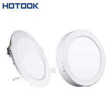 Hot CRI>80 CE LED Driver Dual-use 18w recessed or wall mounted led panel light round downlight led lampada