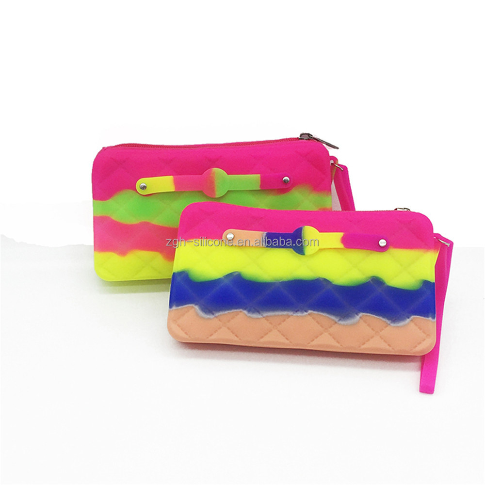 New Trendy Colorful Silicone Lady Hand Bag Silicone Hand Purse