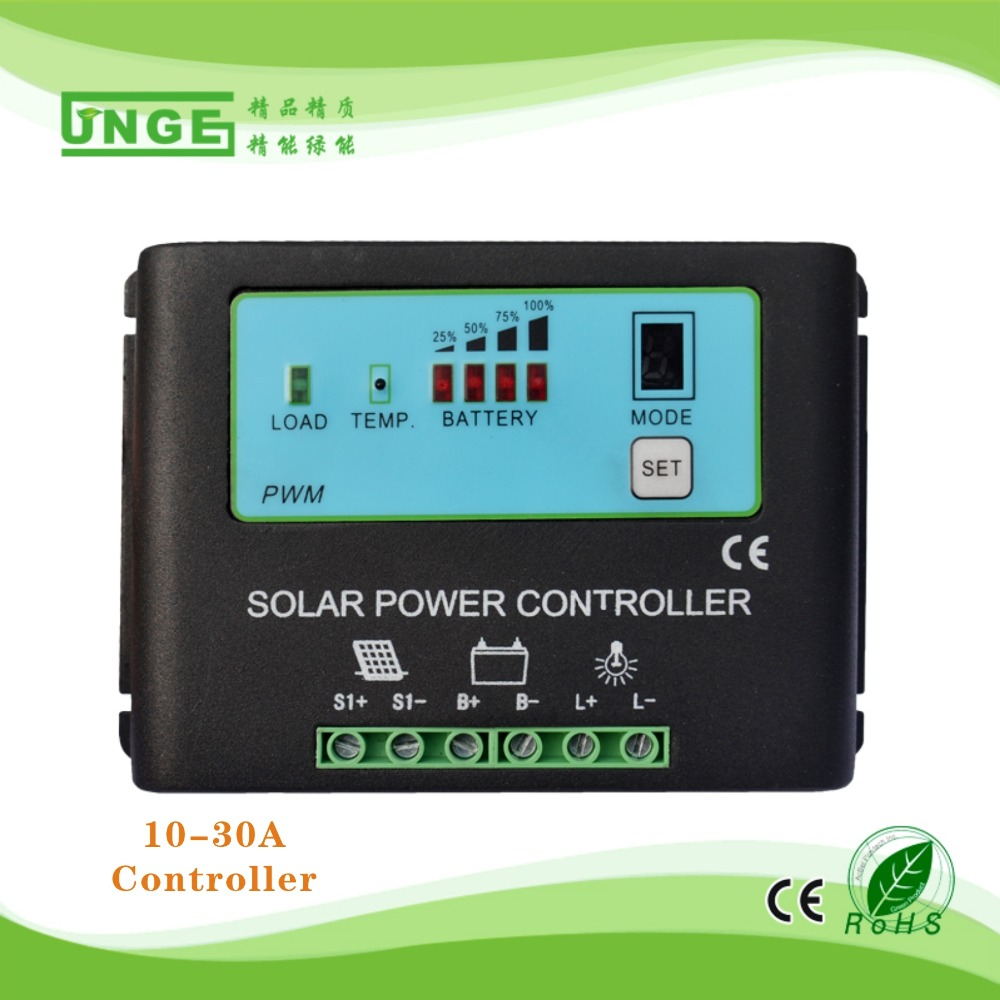 JN-T 12V 24V 36V 48V pwm solar charge controller 10A 20A 30A China wholesale
