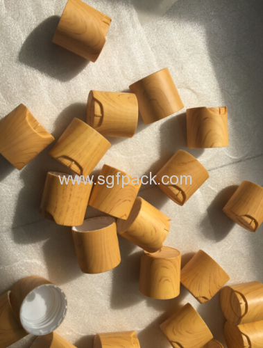 bamboo wooden look plastic disc cap