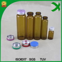 2016 trade assurance amber clear 5ml glass vials with flip off cap