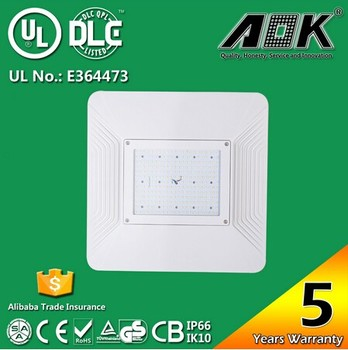 UL/cUL DLC/TUV/SAA Approved 160w Gas Station LED Canopy Light Recessed Canopy light Surface Mounted Garage lighting