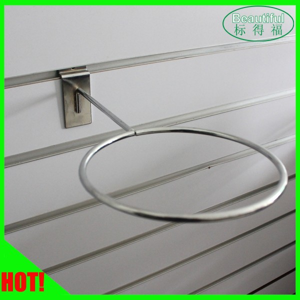 Supermarket wire cap display hook for slatwall&Wire Hat Rack