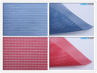 UNEED PVC Dipped/Vinyl Coated Polyester Mesh Tarpaulin Fabric For Fence/ Building Protection/Bags/Curtains/Sunshade/Advertising