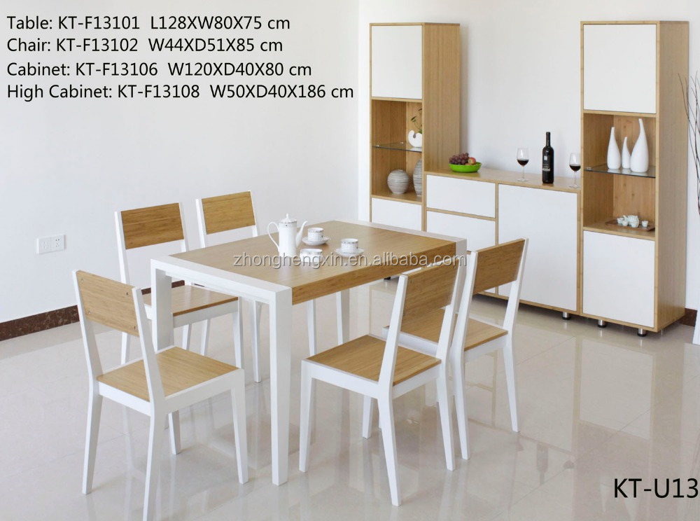 factory supply bamboo and wooden dining room table sets