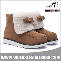 new nice little girls warm brown ankle boots autumn and winter for children