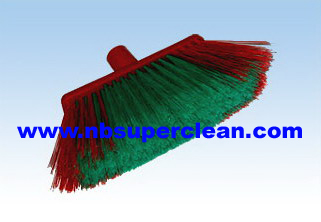 Plastic floor broom head