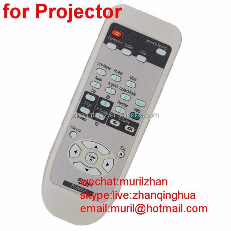 ZF White 27 keys Computer Remote Control for Epson Projector USB with PVC Cover