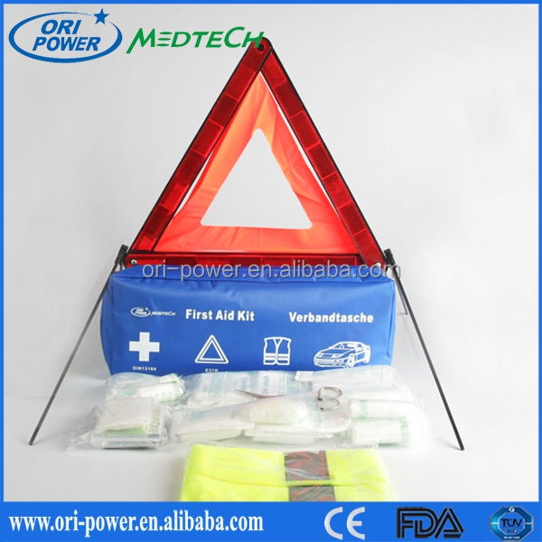 New Product DIN13164 Germany CE FDA approved wholesale oem promotional auto disaster emergency survival kit