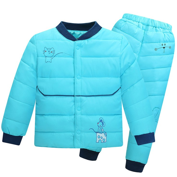 zm21800a wholesale children clothing set two-pieces keep warm kids winter clothes