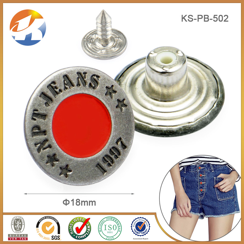 Gothic brand name clothing jeans buttons