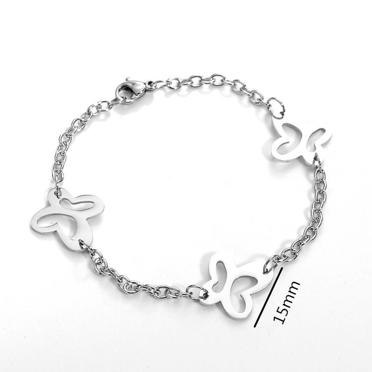 Comely High Grade white stainless steel bracelets