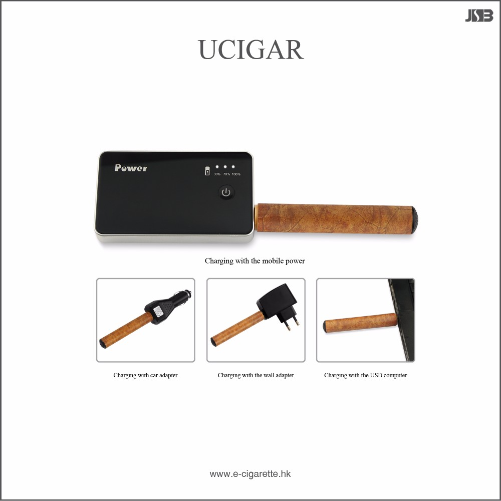 High quality JSB UCIGAR starter kit rechargeable e-cigar 1200puffs 1200mAh 3 cartridges