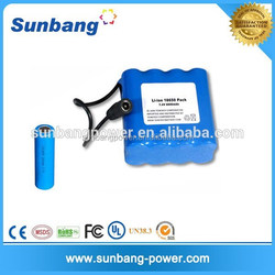 Power king li ion 18500 battery pack 12v with BMS PCB protection