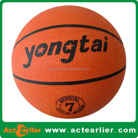 Professional rubber basketball made in China