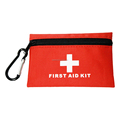 First aid kit with first aid dressing