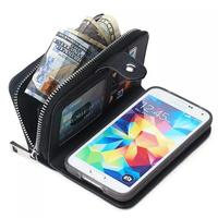CA523 Braided lines Pattern Flip wallet bag case for samsung s4,Zipper leather wallet leather pouch case for samsung s5 note 4