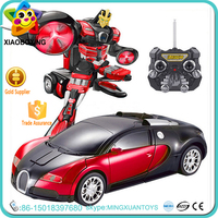 Newest product deformation robot toys rc car made in china
