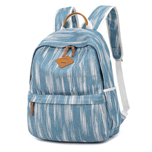 2018 Fashion Printed Canvas Laptop Backpack with USB Charging Port, Student Rucksack for Women Men