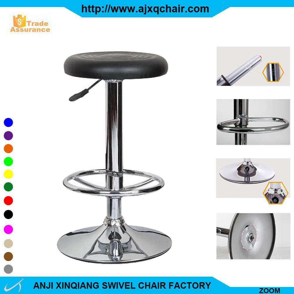 XQ-713A Modern Appearance Chrome Plated Cheap Price Bar Stools With Round Footrest