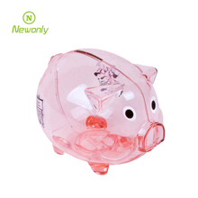 Hot-Selling Lovely custom logo and color plastic digital coin bank
