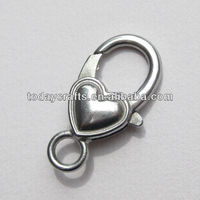 26mm zinc alloy heart shape lobster clasp hardware cabinet clasp
