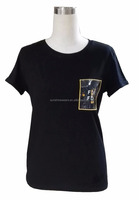 T-shirts with PVC pocket ladies top