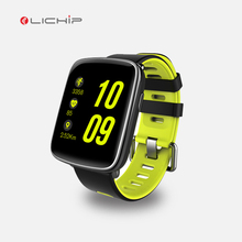 LICHIP new fashion colors item GV68 smart watch with 2.5D arc edge TP IP68 waterproof speaker G-sensor phone