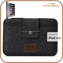 Handmade Flip cover tablet case for ipad mini Stylish smart function for iPad Mini Case soft felt pouch for ipad felt phone case