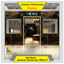 2017 New design interior design ideal jewellery shops high end wood retail display showcases furniture