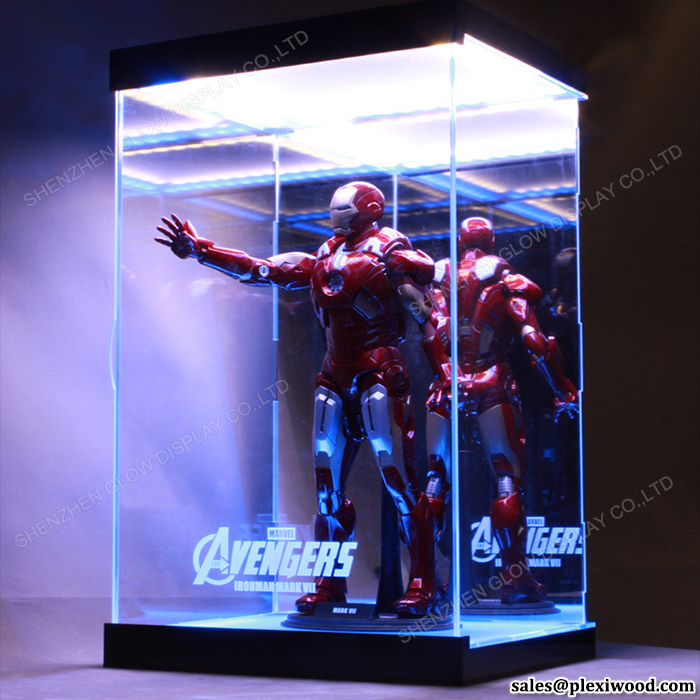 LED Luminous <strong>Acrylic</strong> 12 Inch Figure 1/6 Scale Collection Display Case