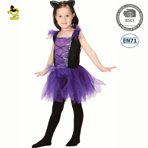 9cdb661d75 A Halloween children bat fancy dress party kids fashion tutu costume