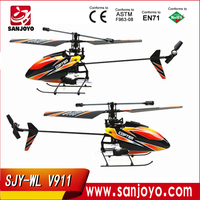 wltoys v911 helicopter 2.4G 4CH Single Blade Gyro RC MINI Outdoor r/c copter With LCD and 2 Batteries v911 helicopter