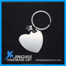 Customized Heart Shaped Metal Photo Blank Keychain Wholesale
