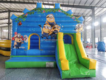 inflatables for sale china inflatable minion bouncer with slide ,bounce with minion theme