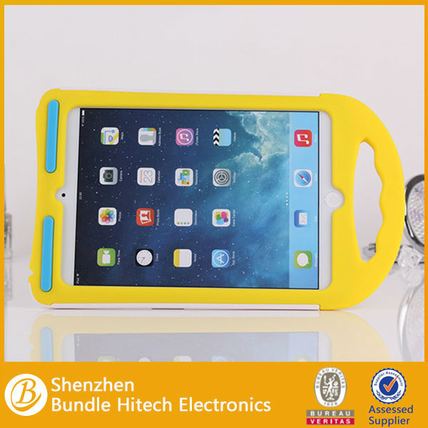 Cute Childern Kids Shockproof EVA Handheld Stand Case for ipad MINI,for ipad mini smart case