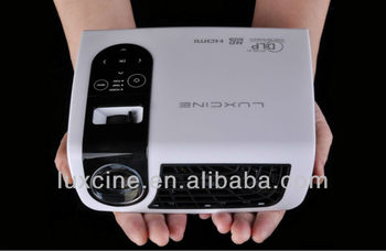 luxcine c5 High Brightness Battery 3D LED Projector(Support Iphone 5)