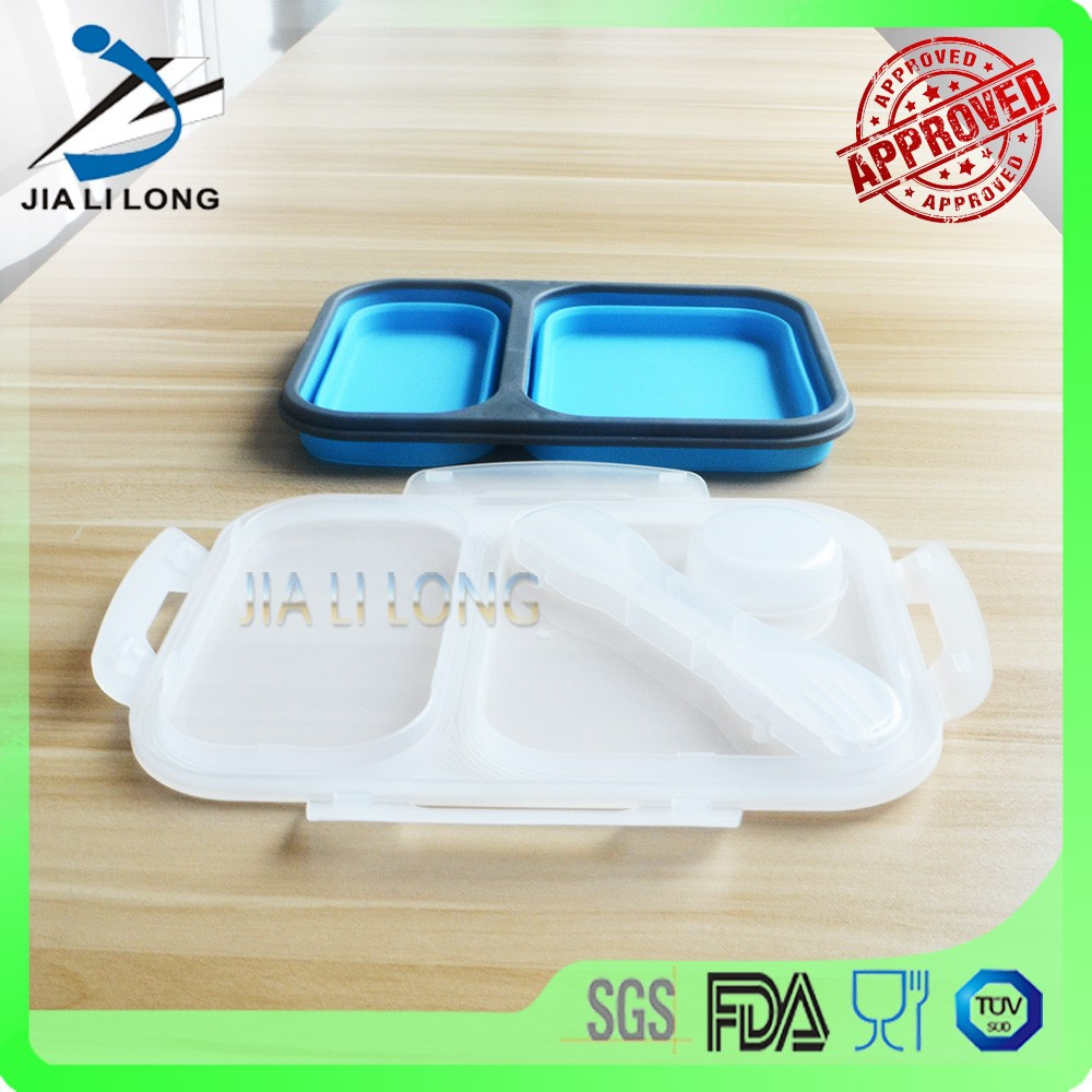 Silicone durable lock and lock food container