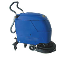Hand-push type floor scrubber and dryer