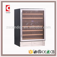 Candor 46 Bottles Compressor two zones Wine Refrigerator with CETL, CE, ROHS, ERP Approval