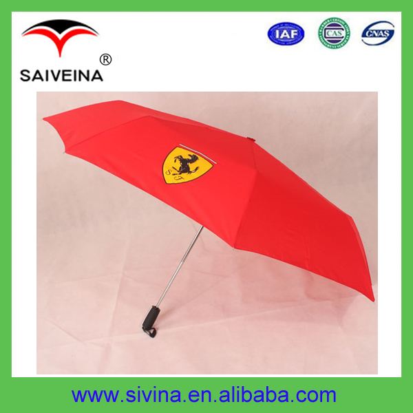 "21""x8 panels manual open promotional 3 section umbrella"