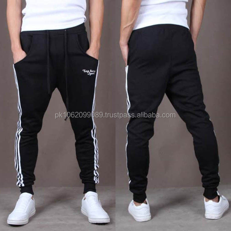 2014 fashion cotton ruffle harem pants plain sweat pants wholesale